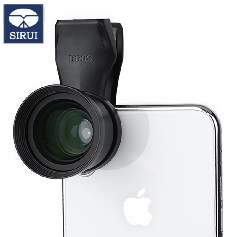 Sirui 60-SA 60mm Portrait lens 18MM Wide Angle HD 4K Telephoto Lenses for iPhone Max Xs X Pixel 3 Samsung S8 S9 Huawei P20 image