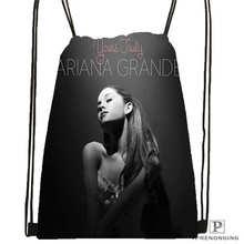 Custom Ariana Grande (4)  Drawstring Backpack Bag Cute Daypack Kids Satchel (Black Back) 31x40cm#180612-03-Ariana Grande