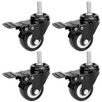 4 x 50mm Casters Swivel Castor Wheels Trolley Furniture Caster Heavy Duty Rollers with Swivel Lock 360 Degree Rotation|Casters|Home Improvement -