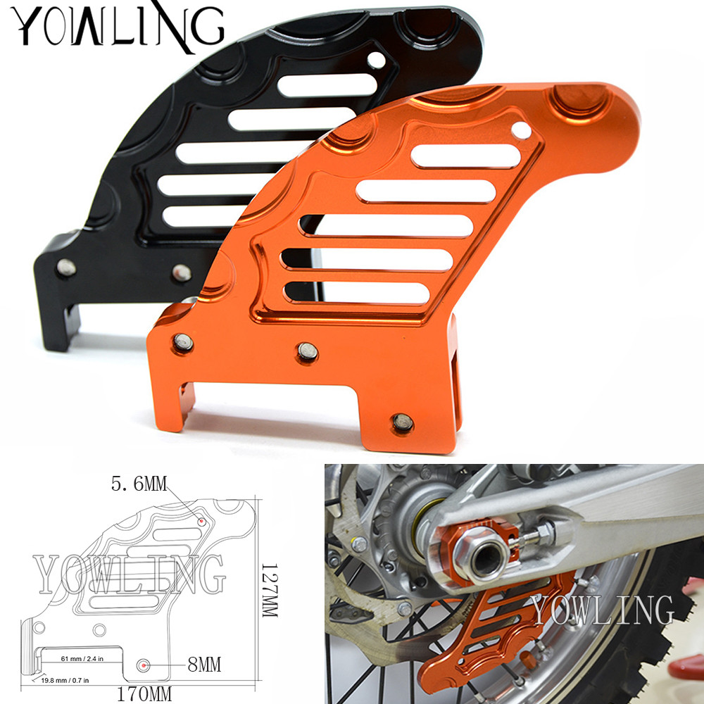 hight resolution of motorcycle accessories cnc aluminum rear brake disc guard potector for ktm 450 sx 2003 2006 450