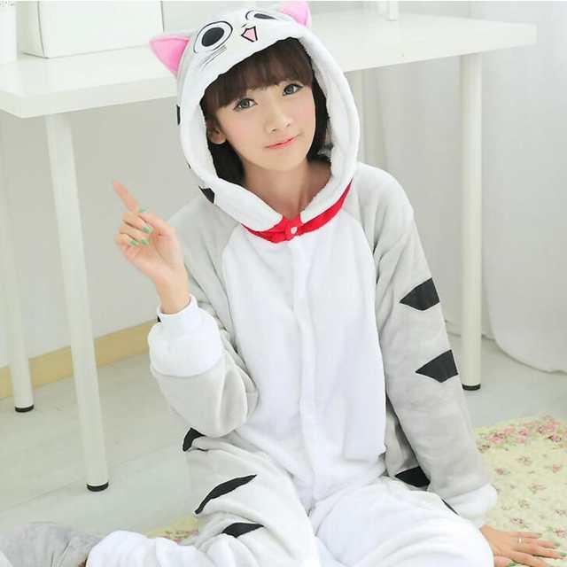 Cheshire Cat Onesie Pajamas Kigurumi Animal Cosplay Costume Family Pyjamas  Women Kids Men  9a042375e