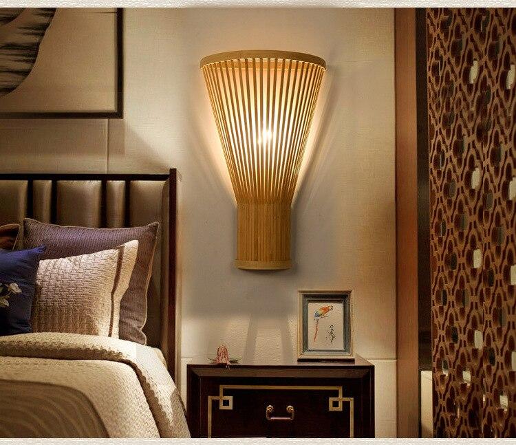 Créative main-tissé bambou applique murale chambre chevet salon moderne minimaliste bambou art applique murale