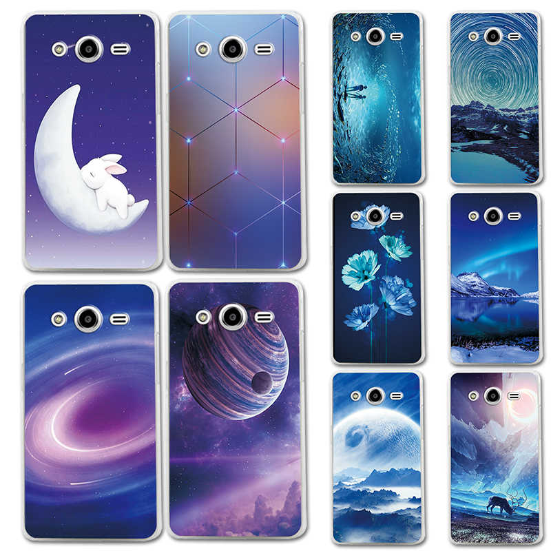 Phone Case Bumper For Samsung Galaxy core2 core 2 SM G355H Brilliant aurora Color Silicone Cover G355M SM-G355h/ds Duos 4.5 inch