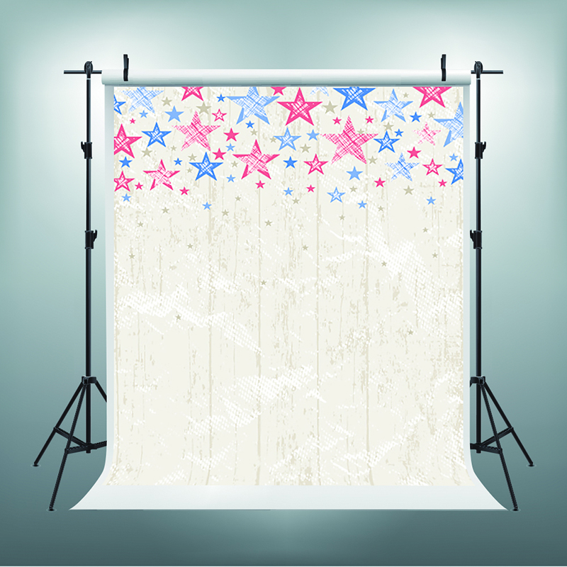 Children Photo Backdrops Red Blue Five-Pointed Star Birthday Photo Backdrops White Board Walls Backdrops for Photographic Studio five in one uniting chess wood multifunction checkers backgammon exercise children thinking family board game kids birthday gift