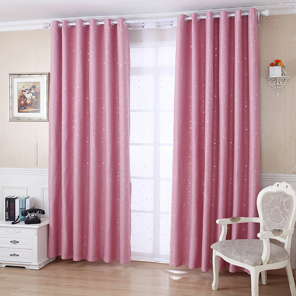 Gyrohome cartoon children bedroom curtain foil stars or - Childrens bedroom blackout curtains ...