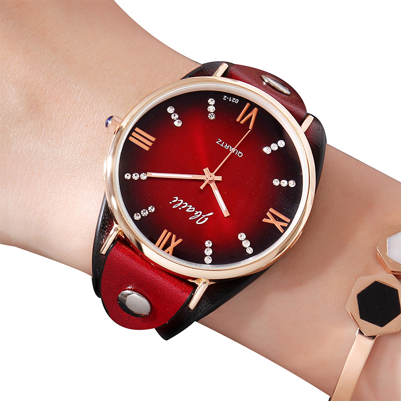 Fashion Trending Womens Dress Watches Diamond Leather Strap Ladies Wrist Watches Travel Geneva Luxury Girl Clock Valentine Gift