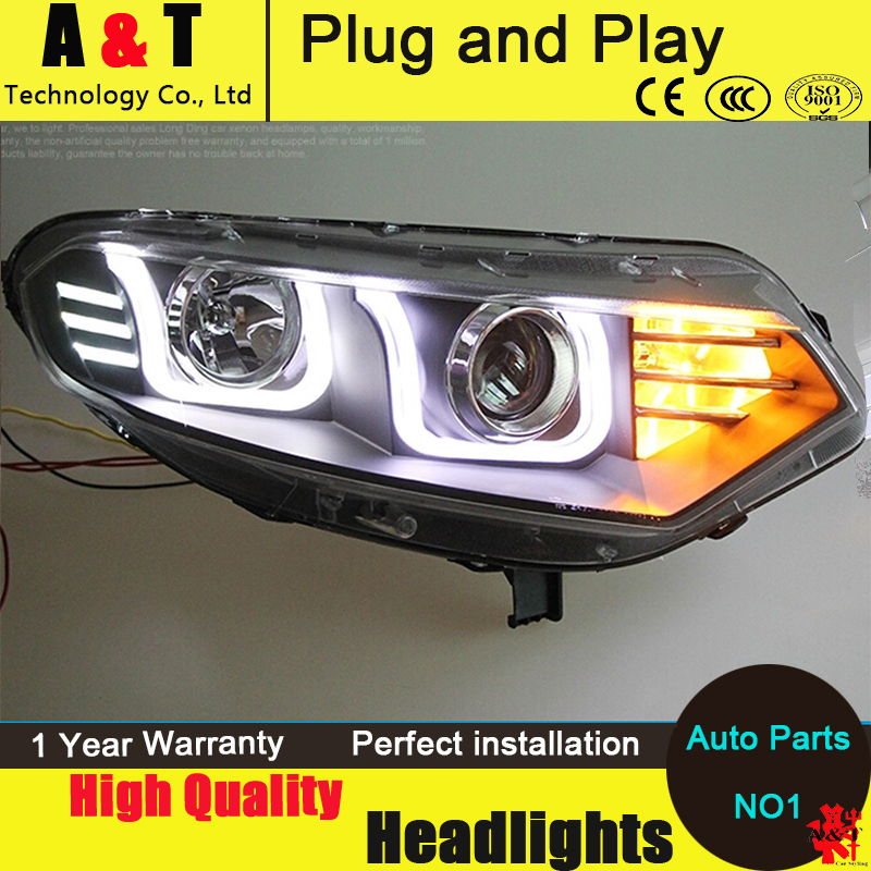 Auto Lighting Style LED Head Lamp for Ford Ecosport led headlight assembly 2012-2015 angel eye led H7 with hid kit 2pcs. hireno headlamp for 2016 hyundai elantra headlight assembly led drl angel lens double beam hid xenon 2pcs
