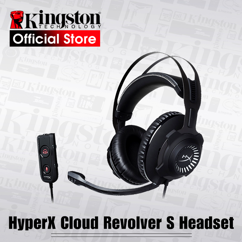 Kingston HyperX headphone Cloud Revolver S Gaming Headset with Dolby 7 1 Surround Sound for PC