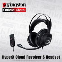 Kingston HyperX słuchawki chmura rewolwer S zestaw słuchawkowy do gier z Dolby 7.1 dźwięk przestrzenny do PC, PS4, PS4 PRO, konsoli Xbox One,