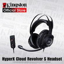Kingston hyperx 헤드폰 클라우드 리볼버 s 게임용 헤드셋, dolby 7.1 서라운드 사운드, pc, ps4, ps4 pro, xbox one,