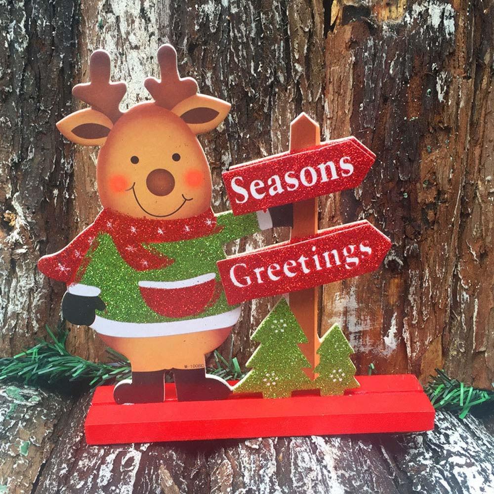 New Qualified Christmas Santa Claus Snowman Ornaments Decor Put Bar Shop Gift Decor christmas decorations for homeOC13