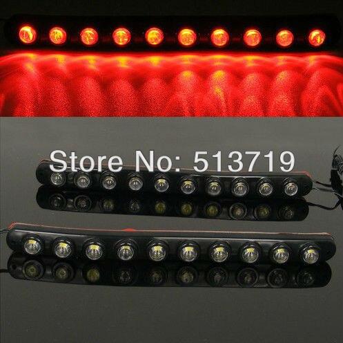 Бесплатная доставка СИД 2x10 Универсальный складной света 10led 6 Вт автомобиль дневного света DRL туман предупреждение декоративные лампы три цвета