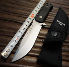 420HC Steel Blade Fixed Blade Knife Buck Survival Knifes With Sheath Hunting Camping Tactical Knives Outdoor EDC Tools K22