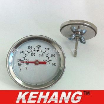 Коммерческий Гриль Термометр, большой размер циферблата, полностью из нержавеющей стали материал, барбекю термометр для печи