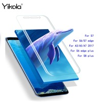 5 stücke Gesamt Coverd Glas Für Samsung Galaxy S6 S7 S8 Rand Plus A3 A5 A7 2017 3D Curved Ausgeglichenes Glas-schirm-schutz Film