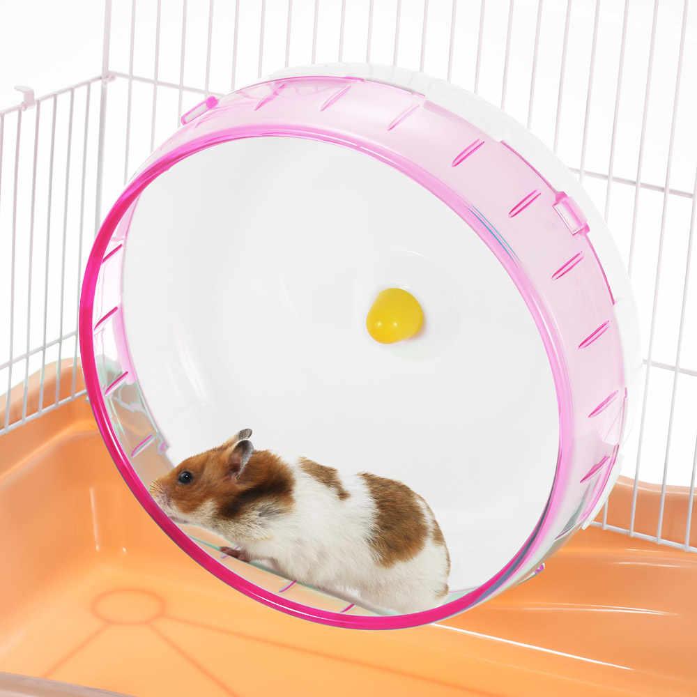 Маленький питомец бег Хомяк Мыши Песчанка крыса Упражнения Колесо бесшумное колесо PP запустить диск для небольшого животного, питомца игрушка Спиннер беговое колесо