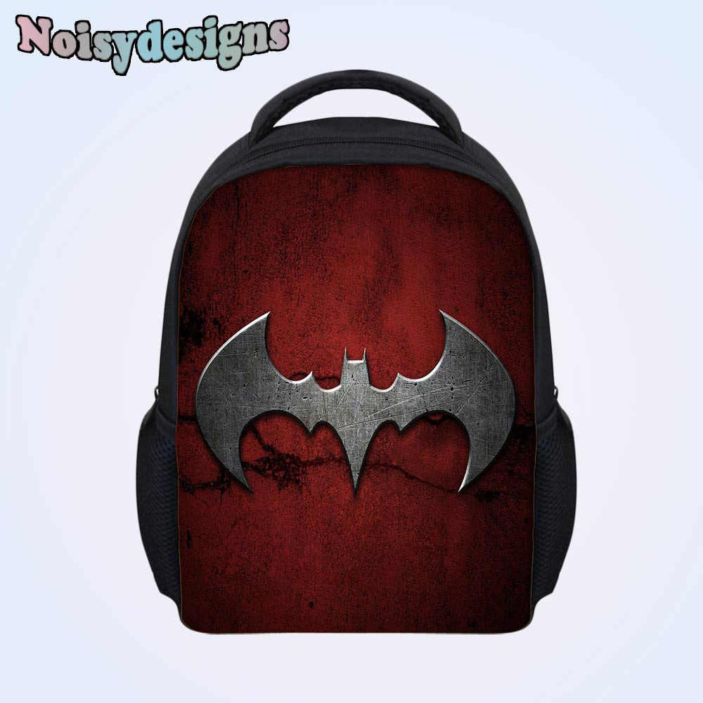 41940d5e3f ... 3D Batman Cartoon Printed Teenagers Students School Bags Preschool  Fashion Mini Children Mochila Backpack Boys Girls ...