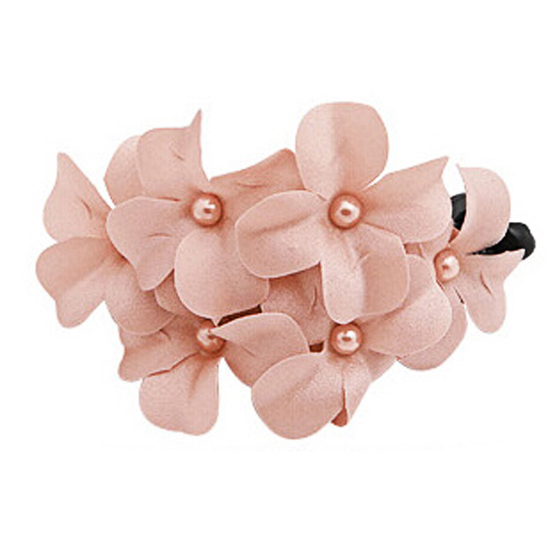 Women's Fashion Hair Accessorie Chic Women Girl Handmade Flower Banana Barrette Hair Clip Hair Pin Claw 10pcs mix color barrette baby hair clip cute flower solid cartoon handmade resin children hairpin girl hair clip accessories