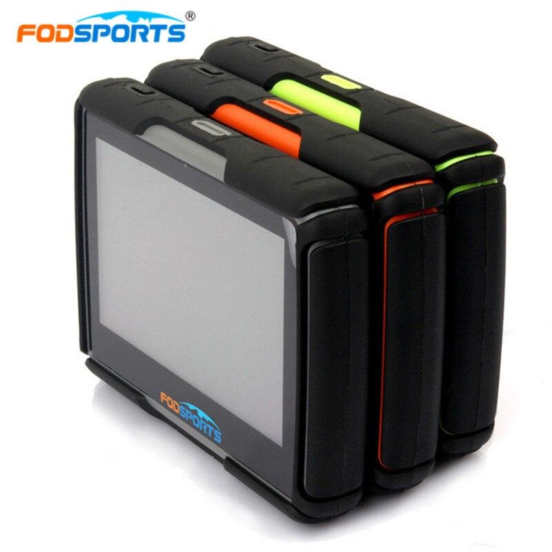Fodsports GPS Moto Navigation Moto Navigateur 4.3 pouce 256 mb 8 gb IPX7 Étanche Bluetooth Traqueur de Voiture Mise À Jour Gratuite Des Cartes