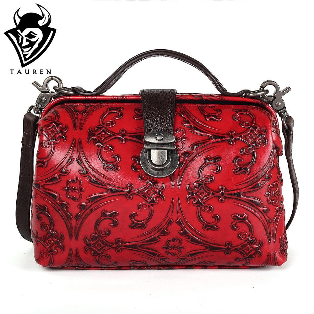 где купить TAUREN Shell Women Messenger Bags High Quality Handbags Cross Body Bag Genuine Leather Mini Female Shoulder Bags по лучшей цене