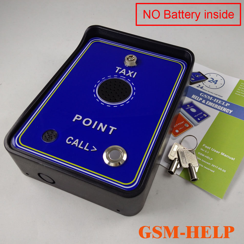 GSM Handfree Audio Taxi Service Help Call Point Intercom Box For Emergency Help Calling