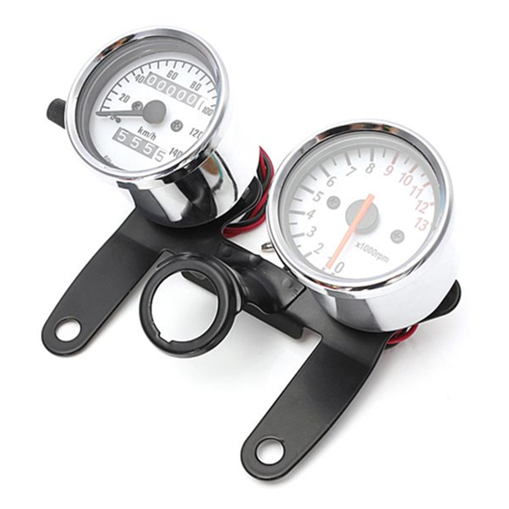 Motorometer Odometer Tachometer Speedometer Gauge med Black Bracket / Motorcycle Speedometer hot selling