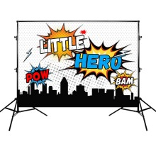 Mehofoto Birthday Party Photography Backdrops Little Hero Banner Customized Photographic Background for Photo Studio