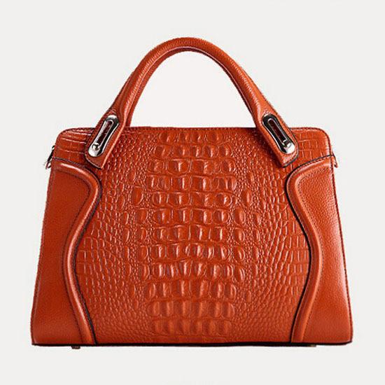 2017 del patrón del cocodrilo bolsas de cuero genuino bolso forme a mujeres el bolso nuevo bolso crossbody bolsos de hombro del zurriago de moda bolso de mano