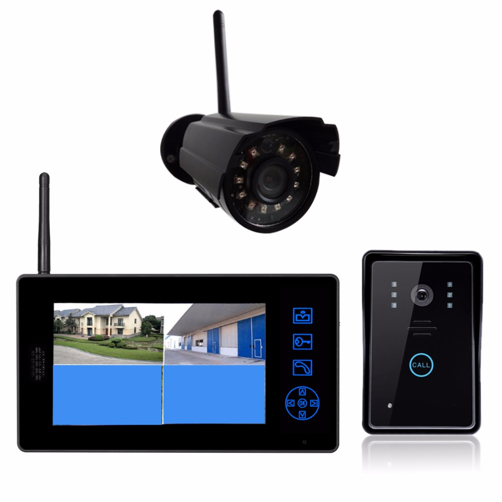 White security camera Wireless CCTV camera system With Video Door Phone digital doorbell system security through log analysis