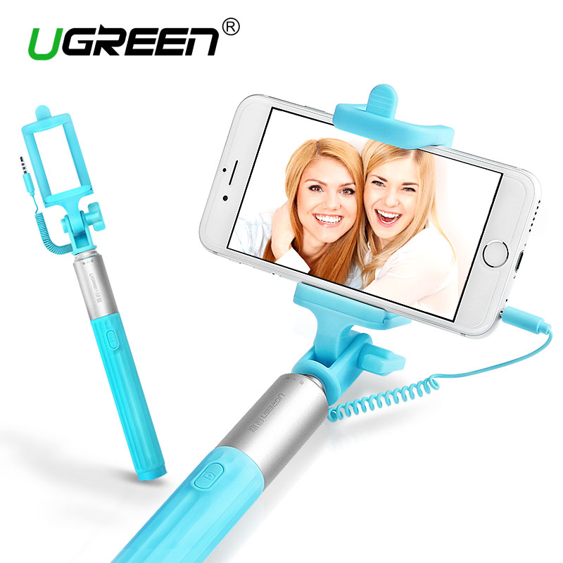 Ugreen Universal Selfie Stick For iPhone Tripod Monopod Wired Mini Selfie Stick For Android Samsung Huawei