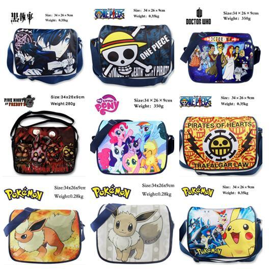 One Piece Luffy Fairy Tail Teddy Bear's Harem Black Ministers Shoulder Bag