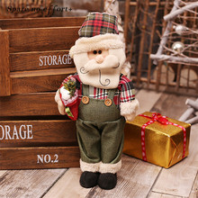 Christmas Decoration for Home Santa Claus Snowman Elk Dolls Christmas Ornaments Toy Gift Doll New Year Home Display Window Decor