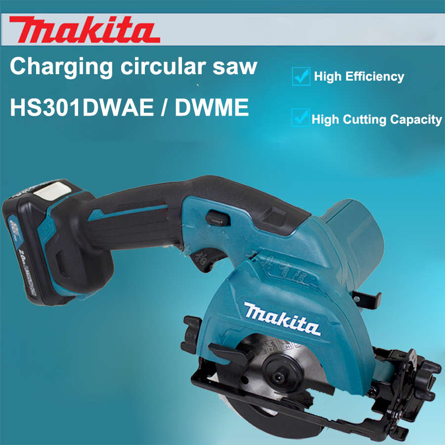Japan Makita HS301D Charging Electric Circular Saw timber Woodworking Saws Electric Cutting Machine 85mm 1500rpm 4.0AH lithium free shipping electric chain saw timber carpentry high power electric chain saws wood