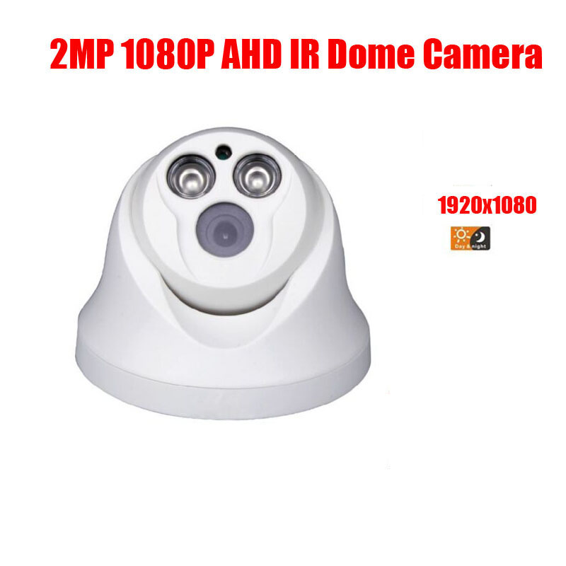 free shipping HD Surveillance 3000TVL Dome CCTV Camera 2MP AHD Camera 1080P Security IR 20M Nightvision Work For AHD DVR free shipping hot selling 720p 20m ir range plastic ir dome hd ahd camera wholesale and retail