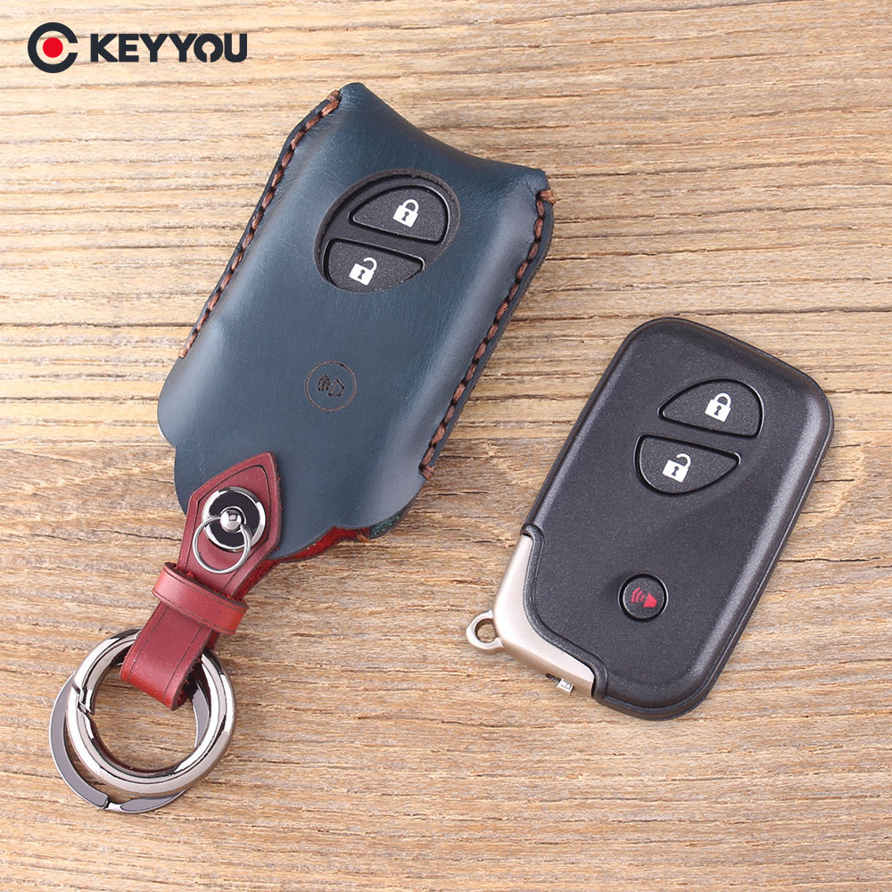 KEYYOU Leather Car Key Case Cover For Lexus CT200h ES 300h IS250 GX400 RX270 RX450h RX350 LX570 Key Shell Fob Protector B cha for lexus 2009 up rx270 rx300 rx350 rx450h led tail lamp rear light