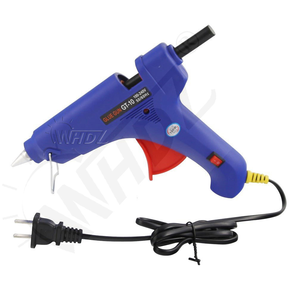 Electric Heating 100-240V Hot Melt Glue Gun with 10pcs Glue Sticks & 10pcs Plastic Dent Removal Connector Glue Tabs (9)