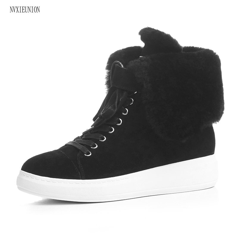 NVXIEUNION 2017 New Hot Sale Women Boots Solid Soft Cute Women Snow Boots Round Toe Black pink Winter Shoes 2017 new arrival hot sale women boots solid bowtie slip on soft cute women snow boots round toe flat with winter shoes wsz31