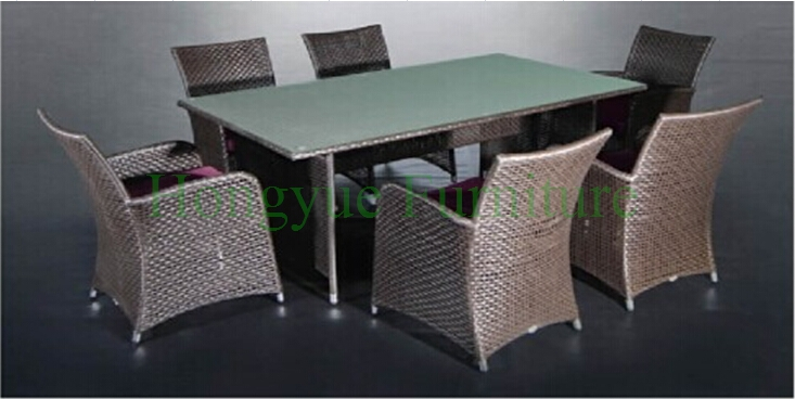 Dining room furniture set in wicker materials,home dining furniture