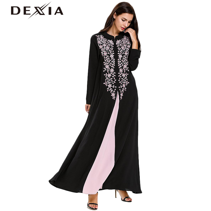 2b72e794a47 Dexia-Plus-tama-o-3XL-4XL-negro-manga-larga-Vestido-Mujer-traje-bordado -de-La-Flor.jpg