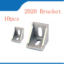 2020 corner free shipping 10pcs Aluminum Angle Bracket for Profile Extrusion or 2028 Series