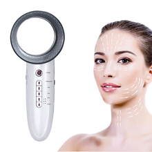 6 IN 1 1MHz Ultrasonic Face Cleaning Massager Galvanic Facial Photon EMS Body Fat Burner Ultrasound Skin Care Spa Beauty Machine