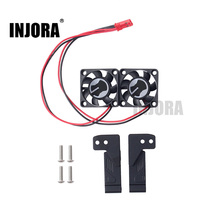INJORA 2Pcs TRX4 Air Inlet Grille Cooling Fan for 1:10 RC Crawler Traxxas TRX-4 RC Car Parts