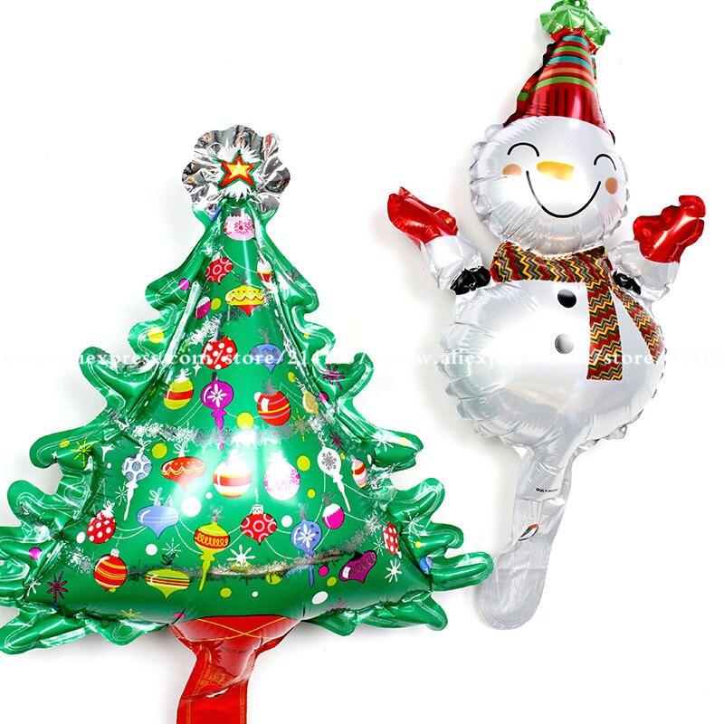 Wholesale 50pcs new mini Christmas tree aluminum balloon ...