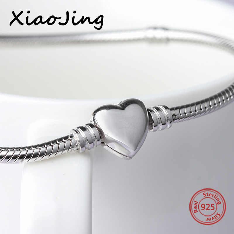 Высокое качество, классика, 100%, 925, серебряные подвески, бусы, цепочка, оригинальные браслеты и ожерелья, любовь, сердце, ювелирное изделие, змея, цепь для женщин, подарок