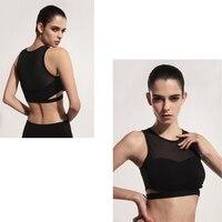 Yoya Shirts Women Nylon Polyester Breathable Spandex Running Sports Bra Yoga Gym Top Vest Shockproof High