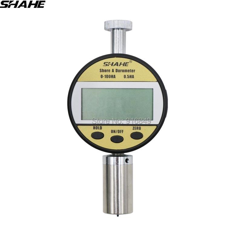 SHAHE 10-90 HA Portable Durometer Hardness Tester Shore Hardness Meter Digital  Rubber Hardness Tester