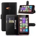 Brankbass lumia 540 flip caso de cuero de la pu caso del soporte de la carpeta cubierta de la caja del teléfono del tirón para nokia lumia 540 ranuras para tarjetas