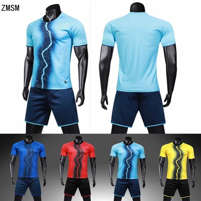 3ac3965557f ZMSM Adult Printed football Uniform Soccer Jerseys Sets survetement football  2019 tracksuits short football training suit LB1907