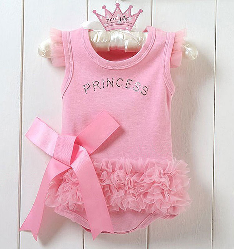 Baby girls princess clothing set cotton jumpsuit infant bodysuit kid Children clothing