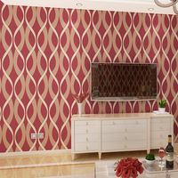 Non Woven Wallpaper Simple Modern Living Room TV Background Wallpaper 3D Stereo Flocking Thickened Water Ripple